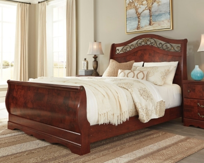 Delianna Queen Sleigh Bed Ashley Furniture HomeStore