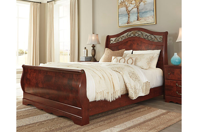 home delianna queen sleigh bed room decorating idea with this piece