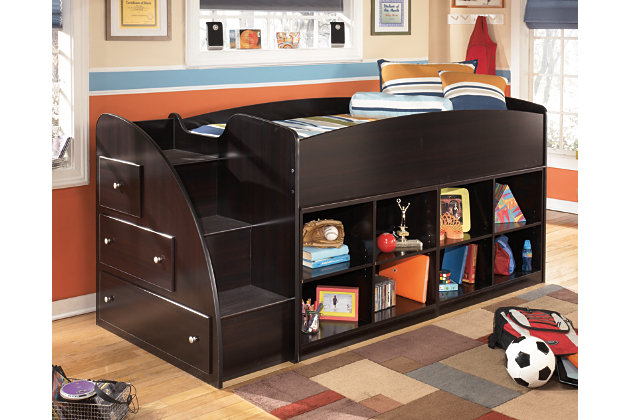 Embrace Loft Bookcase Bed with Left Steps by Ashley HomeS...