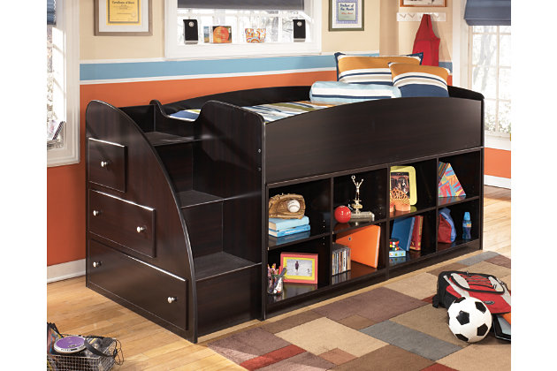 Embrace Loft Bookcase Bed with Right Steps by Ashley Home...