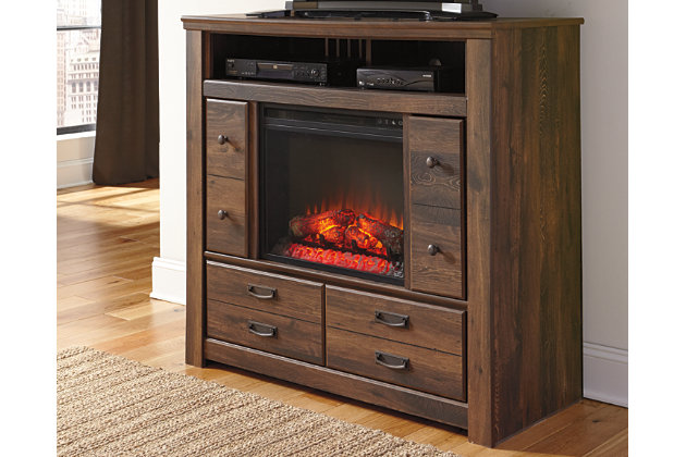 Quinden Media Chest with Fireplace, , large