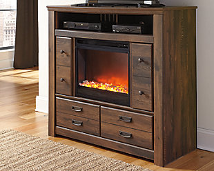 Quinden Media Chest with Fireplace, , rollover