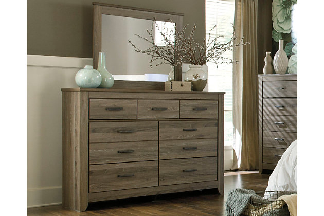 Zelen dresser and mirror ashley furniture homestore for Sale bedroom furniture in the philippines