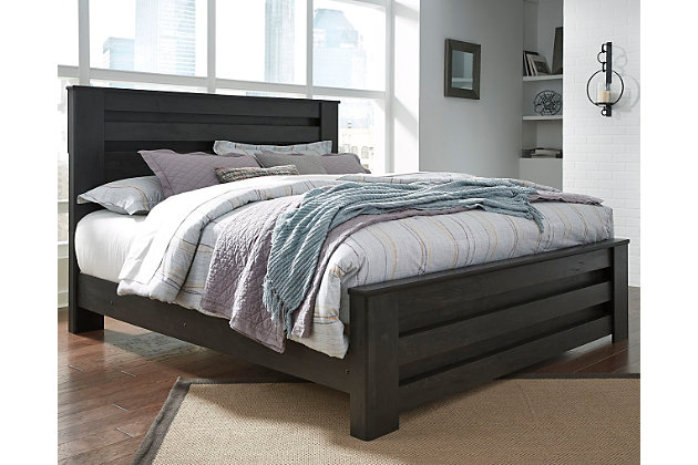 Brinxton King Panel Bed, Charcoal, large