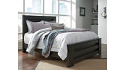 Brinxton Queen Panel Bed, Charcoal, rollover