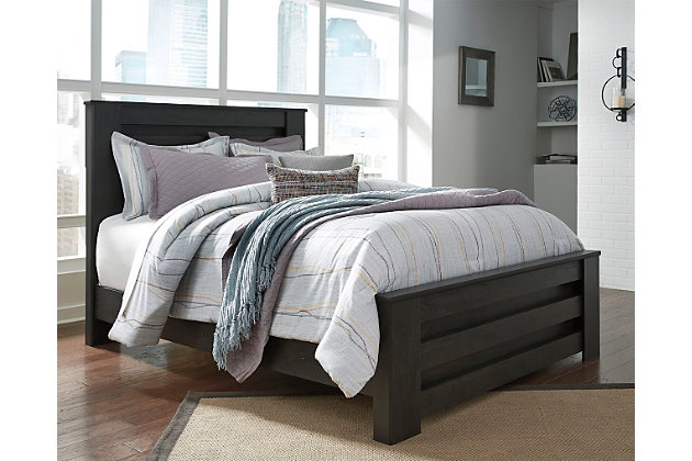 brinxton queen panel bed - Queen Bed And Frame