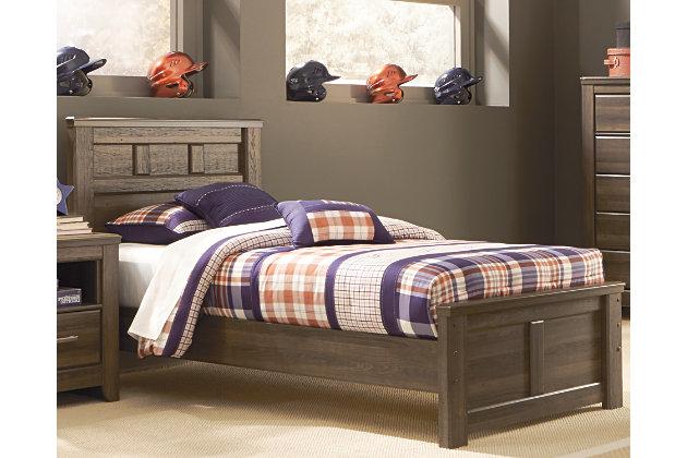 Juararo Twin Panel Bed, Dark Brown, large