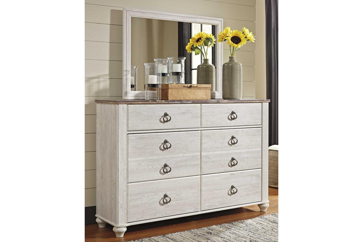 Willowton Dresser and Mirror   Ashley Furniture HomeStore