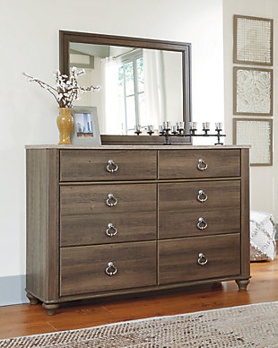 Willowton Dresser and Mirror, Brown, rollover