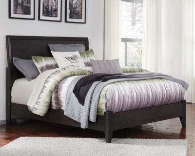 Daltori Queen Panel Bed, Black, large