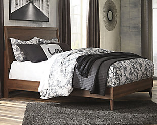 Daneston Queen Panel Bed, Brown/Graphite, rollover