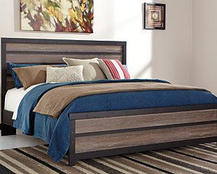 Harlinton King Panel Bed, Warm Gray/Charcoal, large