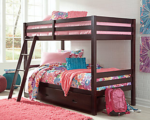 Halanton Twin over Twin Bunk Bed with 1 Large Storage Drawer, , rollover
