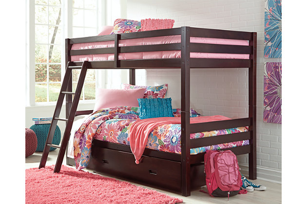 Halanton Twin over Twin Bunk Bed with Storage, , large