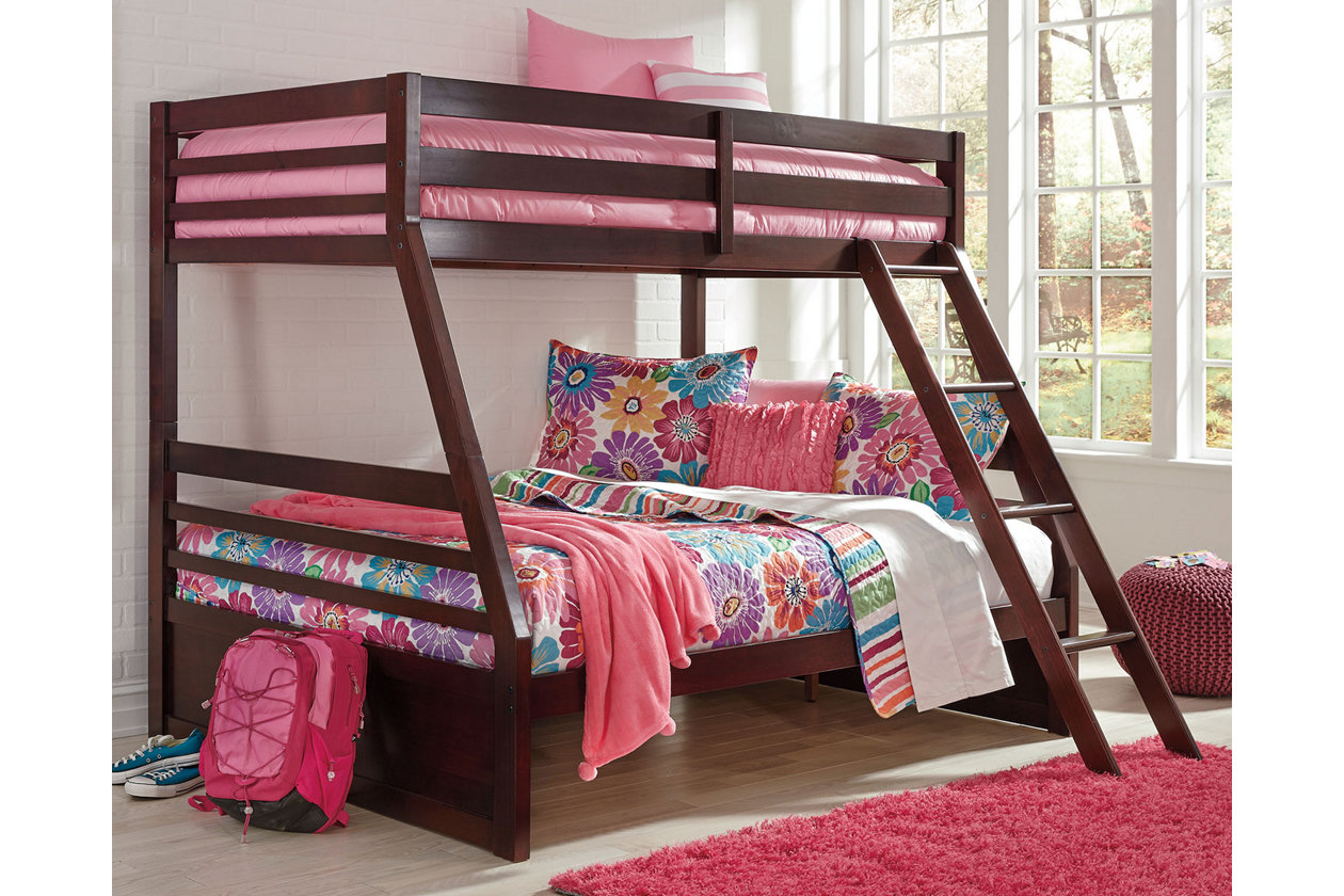 halanton twin over full bunk bed | ashley furniture homestore