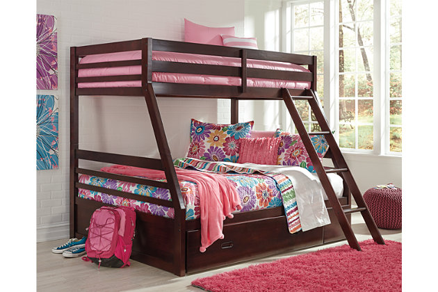 Halanton Kids Twin Over Full Bunk Bed With Storage, , Large ...