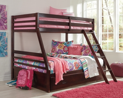 Image of: Halanton Twin Over Full Bunk Bed With 1 Large Storage Drawer Ashley Furniture Homestore
