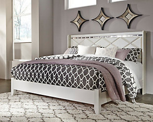 Dreamur Queen Panel Bed, Champagne, rollover