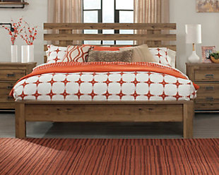 Cinrey Queen Panel Bed, Medium Brown, rollover