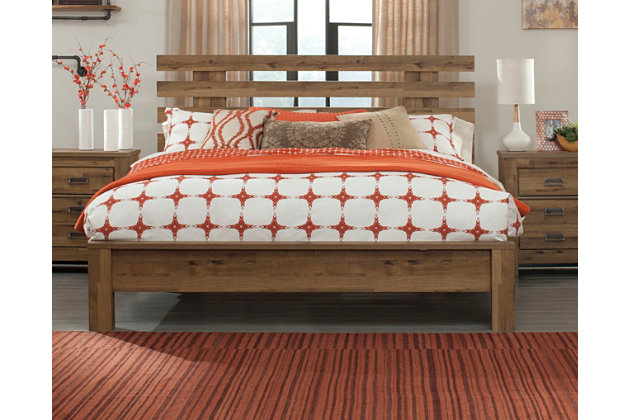 Cinrey Queen Panel Bed, Medium Brown, large