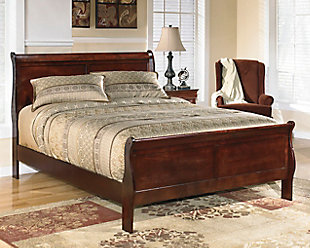 Alisdair California King Sleigh Bed, Dark Brown, rollover