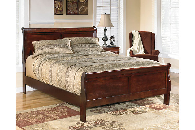 Alisdair Queen Sleigh Bed Dark Brown Large