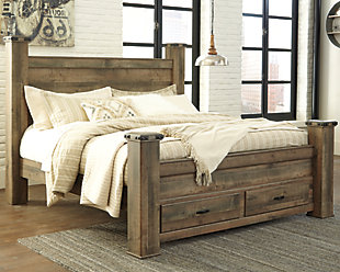 Trinell Queen Poster Bed with Storage, , rollover