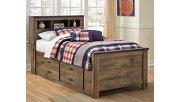 Trinell Twin Bookcase Bed with Drawer Storage, , rollover