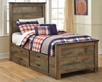 Trinell Twin Panel Bed With 2 Storage Drawers Ashley Furniture Homestore