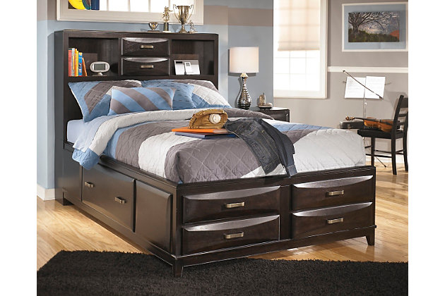 Kira Full Storage Bed Almost Black Large