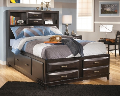 Picture of: Kira Full Storage Bed With 7 Drawers Ashley Furniture Homestore