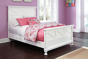 Kaslyn Full Panel Bed, White, rollover