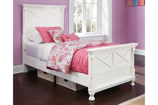 White Kaslyn Twin Panel Bed by Ashley HomeStore