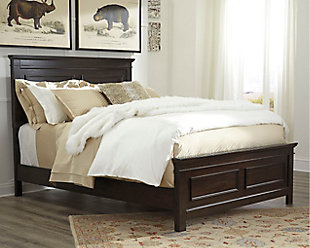 Alexee Queen Panel Bed, Dark Brown, rollover