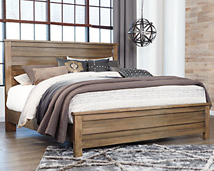 Morraly Queen Panel Bed, Grayish Brown, large