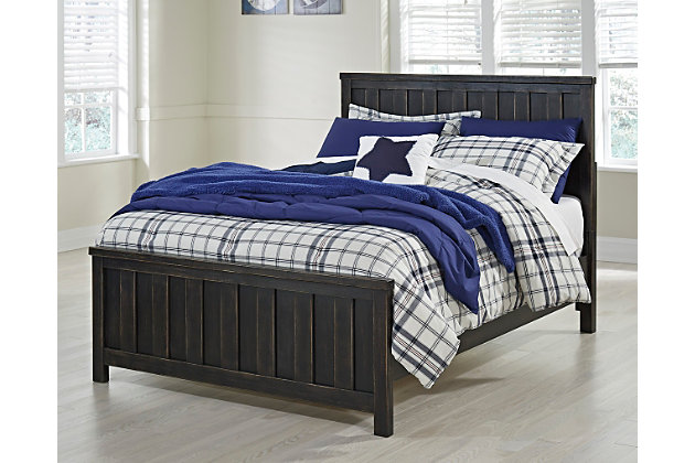 Jaysom Full Panel Bed, Black, large