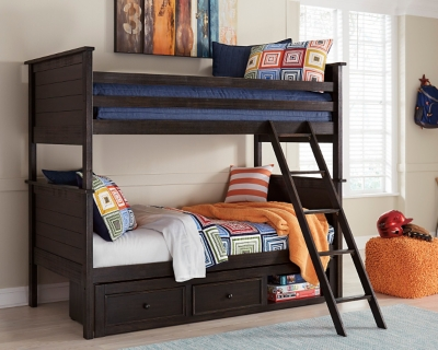 Picture of: Jaysom Twin Over Twin Bunk Bed With Storage Ashley Furniture Homestore