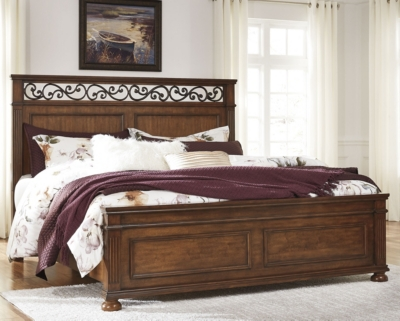 Panel Bed Medium Brown Queen Product Photo