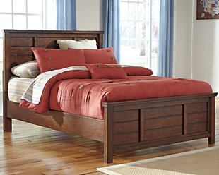 Ladiville Full Panel Bed, Rustic Brown, large
