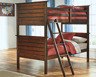 Ladiville Kids Twin over Twin Bunk Bed, , rollover