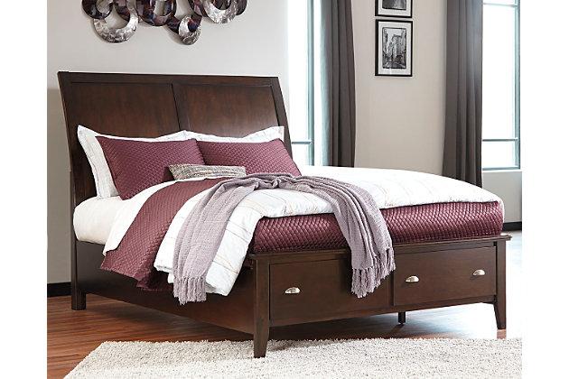 Evanburg Queen Sleigh Bed with Storage by Ashley HomeStor...