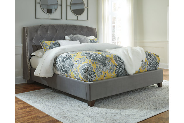 Kasidon Queen Tufted Bed, Multi, large