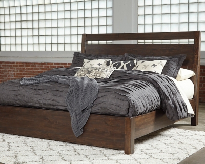 Starmore California King Panel Bed, Brown, large