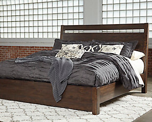 Starmore King Panel Bed, Brown, rollover