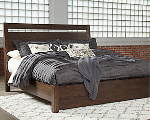 Starmore Queen Panel Bed with Mattress, Brown, rollover