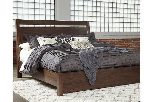 "Starmore Queen Bed with 10"" Memory Foam Mattress in a Box, Brown, large"