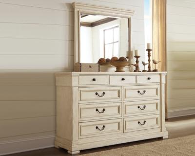 Ashley Bolanburg Dresser and Mirror, Antique White