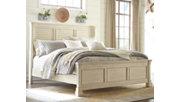 Bolanburg Queen Panel Bed, Antique White, rollover