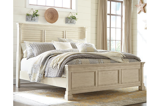 Bolanburg Queen Panel Bed, Antique White, large