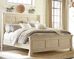 Bolanburg Queen Panel Bed, Antique White, rollover
